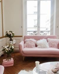 Pink Sofa Bed 16 Ultra Chic Blush Pink Sofas U0026 How To Style Them