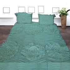 aqua ruffle comforter 3pcs flower ruffle duvet sets