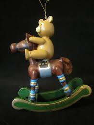 wooden rocking ornament a brown pony