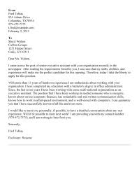 6 best images of senior executive cover letter senior executive