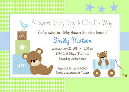 Card Shower Invitation Baby Shower Invitation Template Theruntime Com