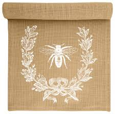 bee crest burlap table runner farmhouse table runners by
