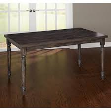 burntwood 6 piece dining set with bench weathered gray walmart com
