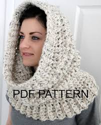 hooded neck warmer cowl scarf for women