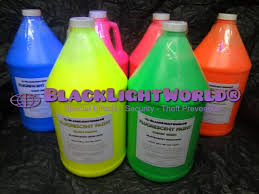 liquids that glow under black light black light fluorescent paint by black light world jazzy