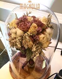 Metz Flowers - glass dome dried flower by magnolia dried flower bridestory com