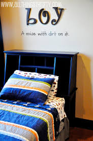 little boys room headboard transformation all things thrifty