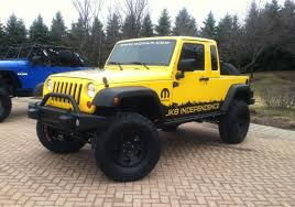 jeep jku lifted wrangler pickup is a go jeep to offer jk 8 conversion kit for the