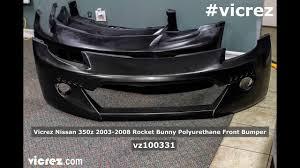 nissan 350z nismo front bumper will it break vicrez nissan 350z 2003 2008 rocket bunny