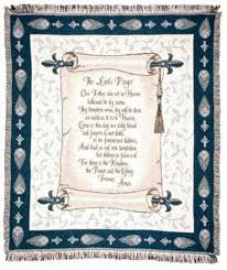 the lord u0027s prayer scroll afghan throw blanket 50