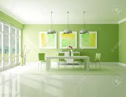minimalist green dining room the art picture on wall are my