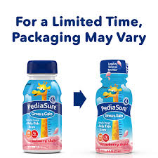pediasure grow u0026 gain nutrition shake for kids strawberry 8 fl