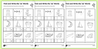 Oa Worksheets Find And Write The Oa Words Differentiated Activity Sheet Pack