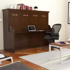 melbourne full wall bed w desk combo walnut