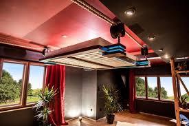 spot chambre à coucher design interieur lit suspendu design eclairage led chambre coucher