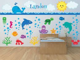 Children Wall Decals Nursery Wall Decals Sea Animal Wall Decal Ocean Wall