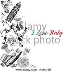 sketch with tower of pisa hand drawn vector illustration with