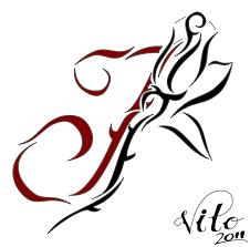 tattoo design j rose by birdstickart on deviantart