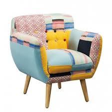 fauteuil design fauteuil design nordique patchwork