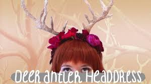 Deer Antlers Halloween Costume Deer Antler Headdress Tutorial Cheap Easy Halloween Costume