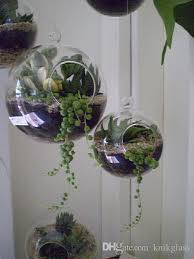 hanging glass orb terrariums indoor plant hanging pots candle