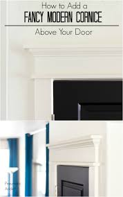pneumatic addict how to add a fancy modern cornice above your door