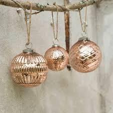 dassie antique copper glass baubles 3 designs
