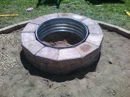 fantastic homemade brick fire pit garden landscape