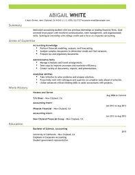 download accounting internship resume sample