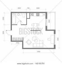 top view floor plan architectural floor plan vector photo bigstock