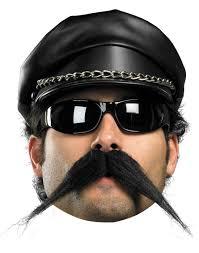 mens halloween wigs biker moustache men u0027s fake hair disguise costume