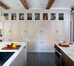 rustic wood flooring kitchen transitional with pantry walk in