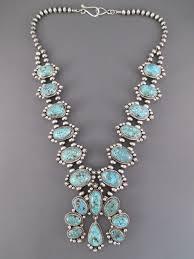 turquoise necklace sets images Kingman turquoise squash blossom necklace earrings set squash jpg