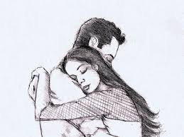 pencil drawing of couples pencil drawings of couples hugging 97184