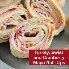 turkey swiss and cranberry mayo roll ups savory experiments