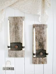 Candle Sconce Repurposed Candle Sconces From Barn Wood Prodigal Pieces