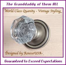 Exterior Door Knob Sets by Crystal Door Knob 24 Lead Crystal World Class Quality Antique