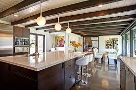 Midcentury Modern Kitchens - mediterranean ranch home with midcentury elements jackson design