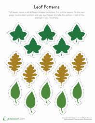 printable leaf patterns worksheet education com