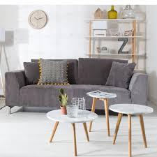 white stone l table zuiver nordic decoration home