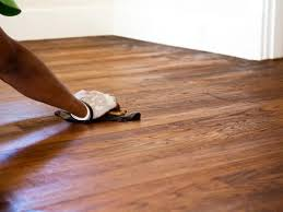 Refinished Hardwood Floors Before And After How To Stain A Hardwood Floor How Tos Diy