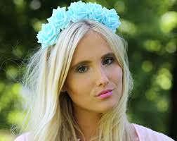 flower hairband blue flower crown flower crown flower headband coachella