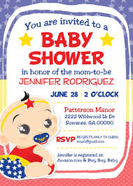 superhero baby shower invitation wonder woman funny u2013 baby shower