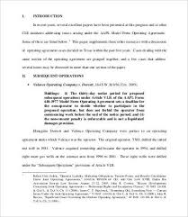 operating agreement template 8 free word pdf documents