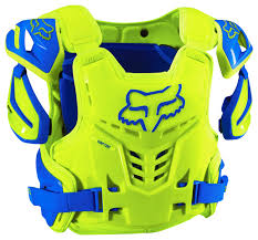 fox motocross body armour fox mx chest protector raptor vest blue yellow 2017 maciag offroad