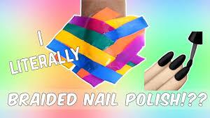 fish tail braid nails by actually braiding the nail polish