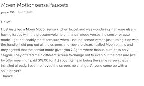 100 moen motionsense kitchen faucet kitchen faucet debonair