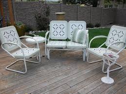 Conversation Patio Furniture Sets - patio 54 metal patio table metal conversation patio set