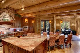 Log Home Kitchen Ideas by Log Home Interiors Stonefield Builders