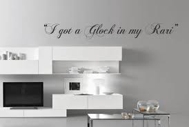 rap lyrics etsy got glock rari vinyl wall decal quote song lyrics fetty wap inspired trap queen decor sticker